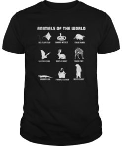 Animals Of The World T-Shirt Funny Animal Real Names