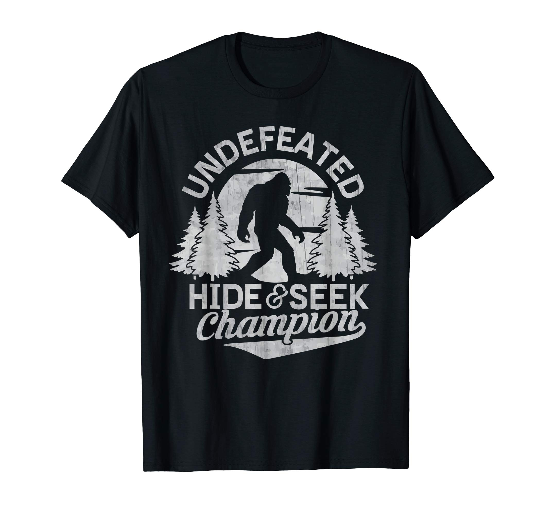 fe899987e Bigfoot T-Shirt Undefeated Hide & Seek Sasquatch Yeti Gift - YeyVibe.com