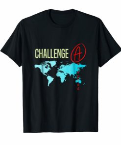 Challenge Accepted With Map for Students and Tutors TShirt