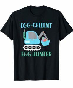 Easter Shirt For Boys Egg - Cellent Egg Hunter Bulldozer T-Shirt