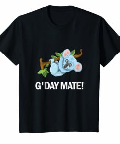 G'Day Mate Shirt Cute Koala Bear T-Shirt For Holiday