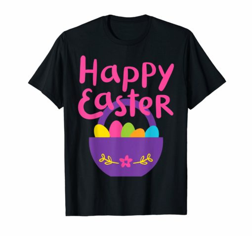 Happy Easter Shirt - Colorful Eggs T-Shirt