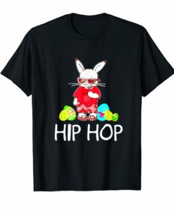 Hip Hop Bunny With Sunglasses Cute Easter T-Shirt American