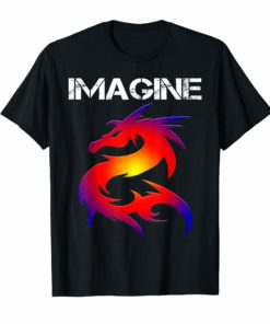 IMAGINE Fantasy Dragon Style T-shirt Great For Gift