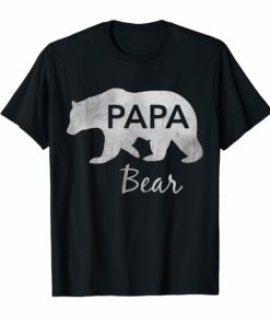 Mens Papa Bear T-Shirt Great Gift For Dad - Father - Grandpa