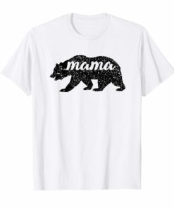 Black Matte Mama Bear Mather's Day T-Shirt