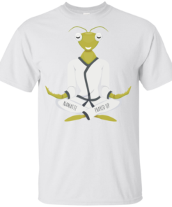 Namaste Prayed Up Praying Mantis Humor Love Yoga Youth Kids T-Shirt