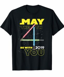 Star Wars May The 4th Be With You 2019 Lightsabers T-Shirt