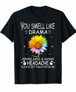 You Smell Like Drama And A Headache Please Get Away From Me T-Shirt