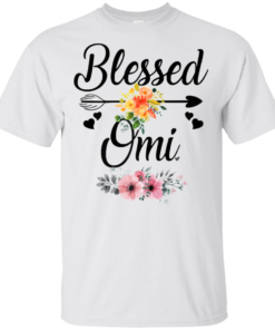 Blessed Omi Flowers Heart Mother's Day T-Shirt