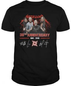 Metallica 38th Anniversary 1981-2019 Signature shirt