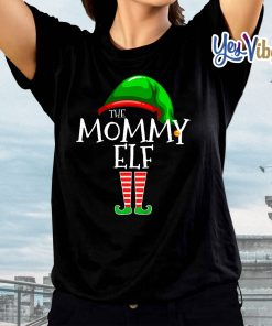 Mommy Elf Family Matching Group Christmas Gift Tee Shirts