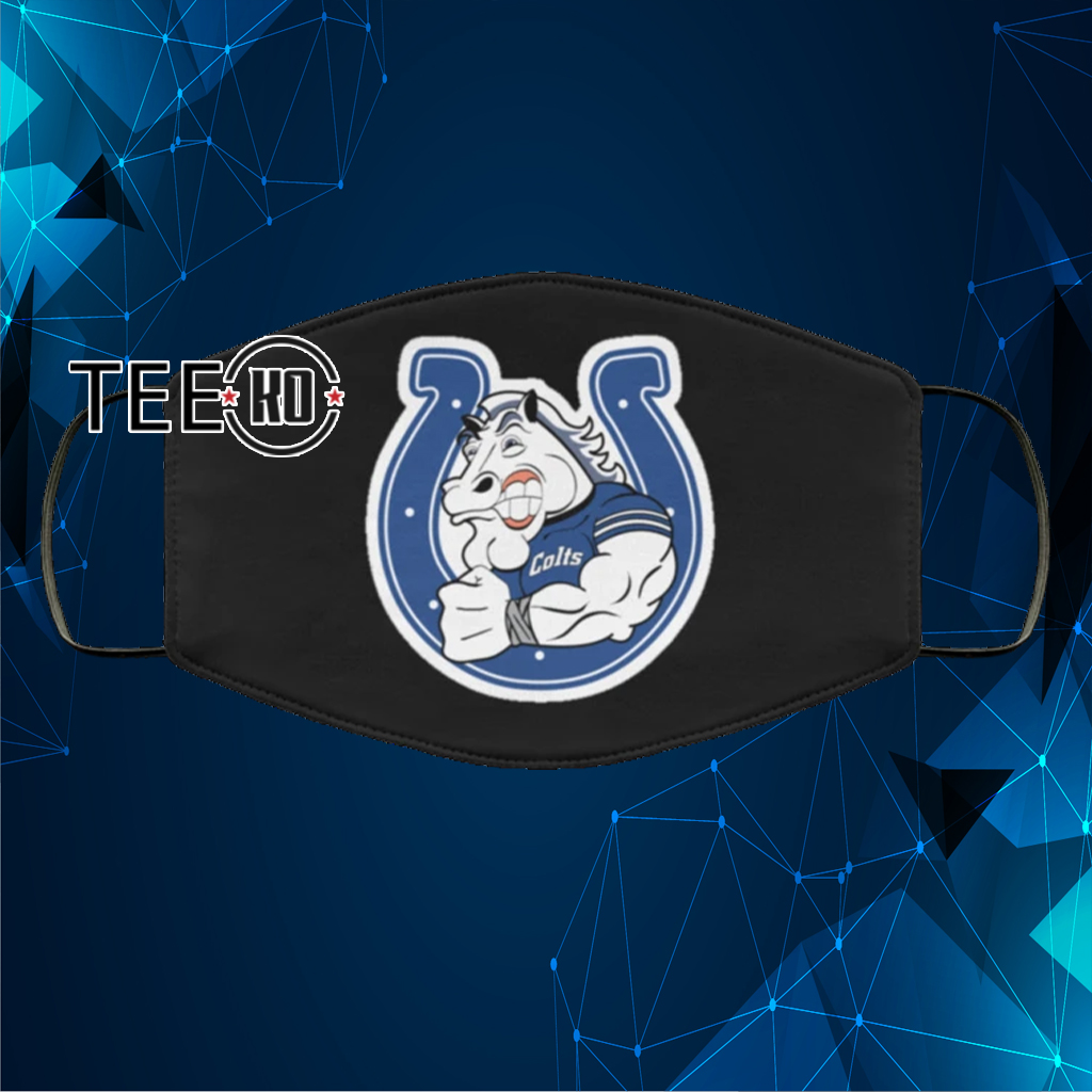 INDIANAPOLIS COLTS BLUE NFL HORSE FACE MASK US